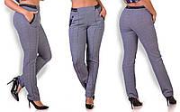 Батальные брюки в гусиную лапку