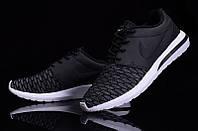 Кроссовки мужские беговые Nike Roshe Run (найк роше ран, оригинал) черные