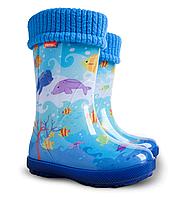 Резиновые сапоги детские Демар Hawai lux Exclusiv 20-35 Дельфин