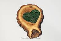 """Подушечка для колец  """"Сердце"""" большая срез 14 см с натуральным наполнителем"""