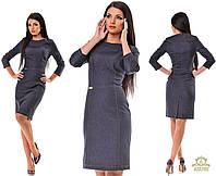 Женское силуэтное джинсовое платье карандаш. Турция. Синий и черный цвет.  Размеры S-XL OD5182