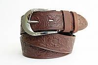 Сверхпрочный женский кожаный ремень. Высокое качество. Оригинальный дизайн. Купить удобный ремень. Код: КДН685