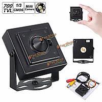 """1/3 \ собутыльник 3.7mm широкоугольный объектив доски CCTV безопасности / NTSC камеры 700TVL мини -обскура HD"""""""