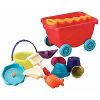 Набор для игры с песком и водой - ТЕЛЕЖКА ПОМИДОРЧИК 11 предметов