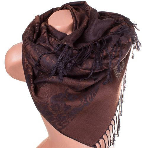 Удивительный женский двусторонний палантин из пашмины 180 на 70 см ETERNO ES2707-5-6 коричневый