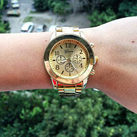Женские наручные часы Geneva Gold без камней