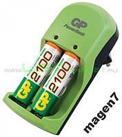 Зарядное устройство GP+2 аккумулятора АА 2100 мАч