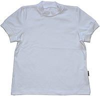 Гольф под горло для девочек, школьный, короткий рукав, белого цвета, рост 134 см, 146 см, ТМ Robinzone