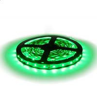 Светодиодная LED лента SMD 2835-60 G зелёная негерметичная IP20