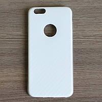 Чехол-крышка для Apple Iphone 6 / 6S Белый Carbon