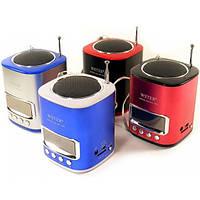 Портативная колонка WSTER WS-259 с MP3 плеером и FM тюнером