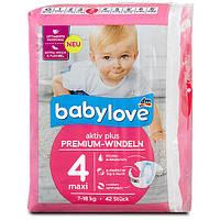 Подгузники Babylove 4 Maxi (7-18 кг) 42 шт. (Германия)