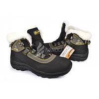 Термо ботинки женские нубук на цигейке Restime, Черный, 40