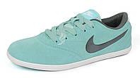 Кроссовки женские замшевые мятно-серые Nike Zoom, Мятный, 36