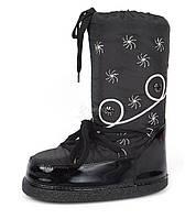 Дутики женские луноходы термо Moon Boots Black самая теплая обувь, Черный, 36
