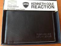 Кожаный кошелек Kenneth Cole Reaction тройного сложения черный оригинал