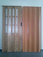 Двери раздвижные межкомнатные глухие и полуостекленные гармошка 86х203х10мм