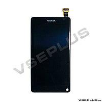 Дисплей (экран) Nokia N9, черный, с сенсорным стеклом