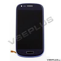 Дисплей (экран) Samsung I8190 Galaxy S3 mini, синий, с сенсорным стеклом