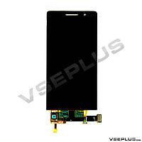 Дисплей (экран) Huawei Ascend P6, черный, с сенсорным стеклом
