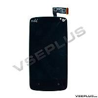 Дисплей (экран) HTC Desire 500, черный, с сенсорным стеклом