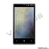 Дисплей (экран) Nokia Lumia 820, черный, с сенсорным стеклом