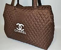 Женская сумка стеганная Chanel (Шанель) коричневая