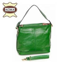 Женская кожаная сумка зеленая