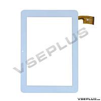 Тачскрин (сенсор) под китайский планшет SANEI N10, TPC0187, белый, 10.1 inch, 50 пин, 173 х 263 мм.