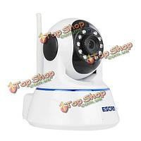 ESCAM qf002 720p камера безопасности CCTV вилка & играть WiFi телеметрией IR порез ночного видения с двухсторонней камеры аудио SD-карты