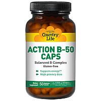 Сбалансированный комплекс витаминов группы В Action B-50 (50 капс.) Country Life
