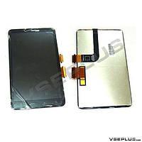 Дисплей (экран) HTC ThunderBolt 4G, черный, с сенсорным стеклом