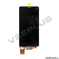 Дисплей (экран) Sony D5803 Xperia Z3 Compact / D5833 Xperia Z3 Compact, черный, с сенсорным стеклом