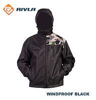 Демисезонная мембранная куртка RIVLA V3 WINDPROOF BLACK