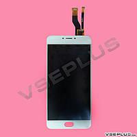 Дисплей (экран) Meizu M681H M3 Note, белый, с сенсорным стеклом