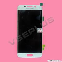 Дисплей (экран) Samsung G925 Galaxy S6 Edge / G925F Galaxy S6 Edge, белый, с сенсорным стеклом