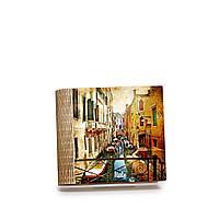Шкатулка-книга на магните с 4 отделениями Венецианская улочка