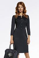 Женское платье-футляр черного цвета в офисном стиле. Модель 220014 Enny, коллекция осень-зима 2016-2017.