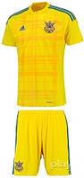 Детская футбольная форма  Adidas сборной Украины по футболу (футболка+шорты)