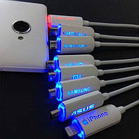 Дата-кабель USB-Lightning  Apple с LED подсветкой