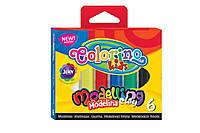 COLORINO Пластилин 6 цветов масса для моделирования