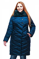 Зимняя куртка стеганная с капюшоном Мария больших размеров