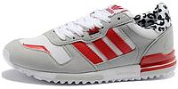 Женские кроссовки Adidas ZX 700 (aдидас ZX) белые/серые