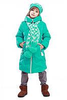 Отличная зимняя куртка Ярина для девочек в комплекте с шарфиком в расцветках