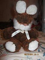 Зайчик рыжий кролик заяц СЕНЯ мягкая игрушка шик