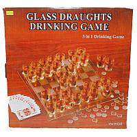 Шахматы из стекла с картами