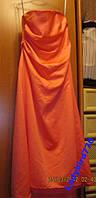 Платье нарядное атлас цвет-розовый персик ALFRED ANGELO вечернее 14 48 М-L