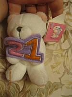 Мишка коллекционный медведь 21год юбилей игрушка