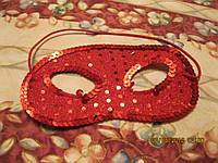 Очки красные маска карнавальная игрушка паетки