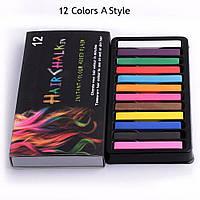 Мелки для волос -12 цветов , временное окрашивание